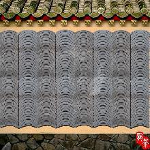瓦片装饰墙