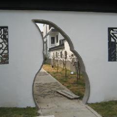 月牙门套,青砖门套,青砖月洞门,中式庭院门洞,中式门套