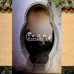青砖海棠形门套,青砖门套线,中式庭院门洞,中式门套