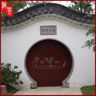 圆形拱门,青砖门套,青砖门套线