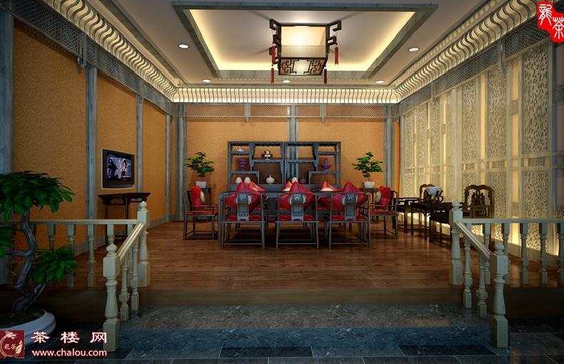 中式风格茶馆装修设计效果图