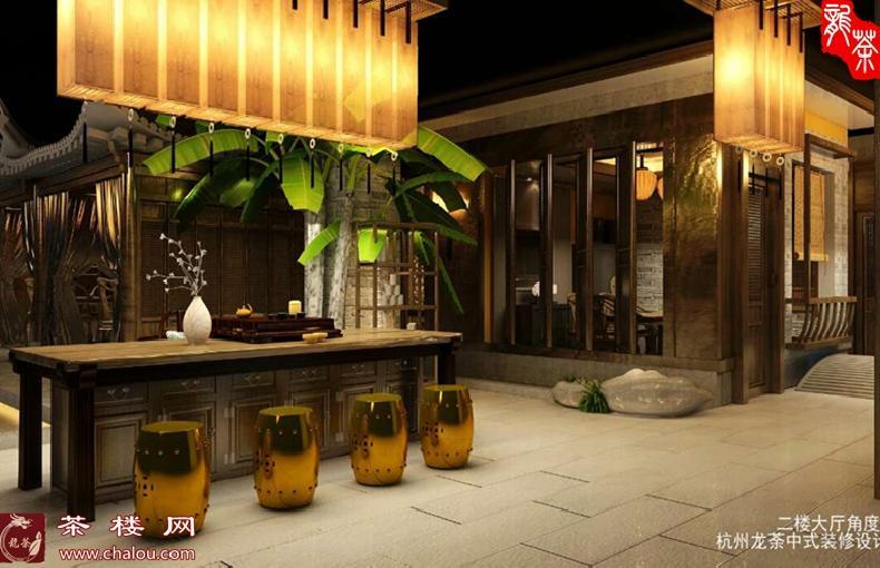 中式茶艺馆装修设计效果图