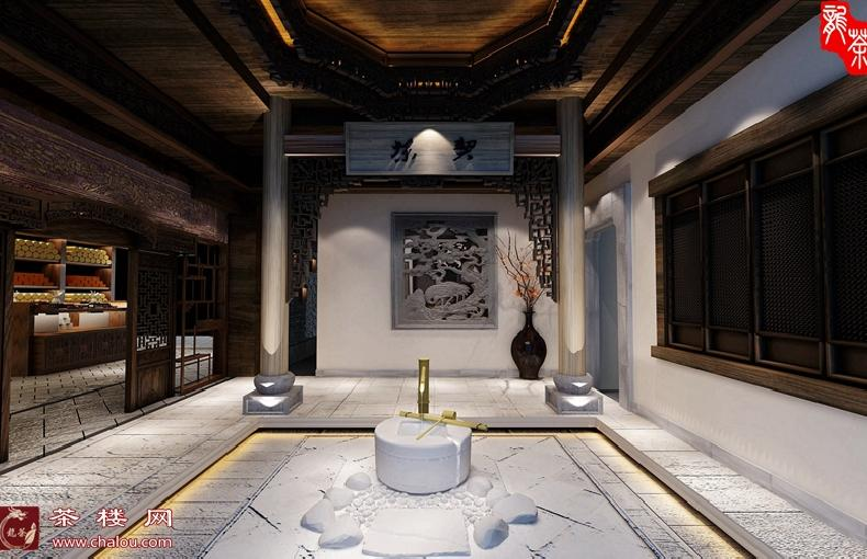 中式茶楼装修设计效果图