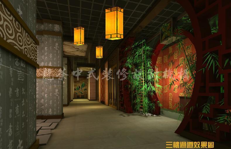 中式风格大型茶楼装修设计效果图
