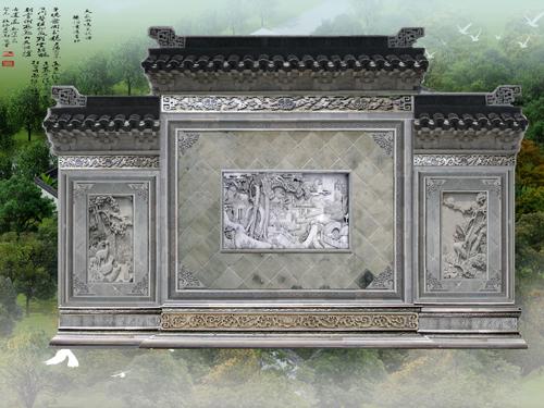 四合院照壁,仿古青砖砖雕