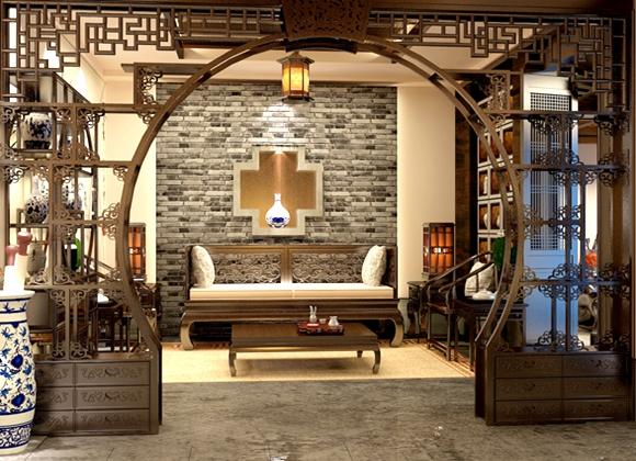 中式茶馆装修设计效果图